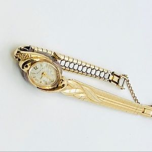Vintage Bulova Watch Art Deco 10K Gold Plate 1920s